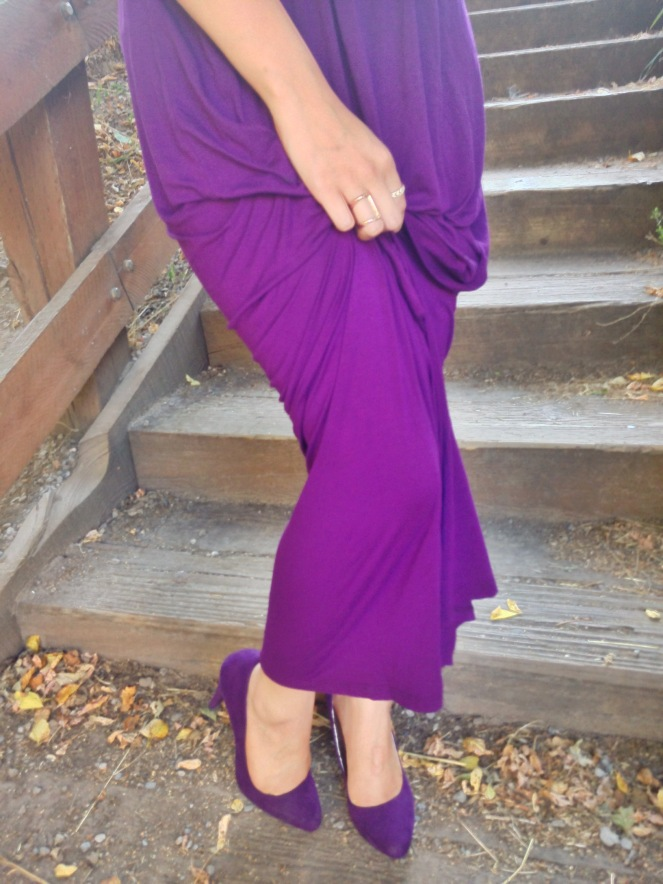 Purple Heels and Dress