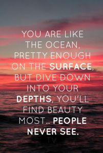 She is like the ocean